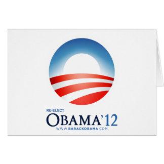 Reelija a Obama 2012 Tarjeta De Felicitación