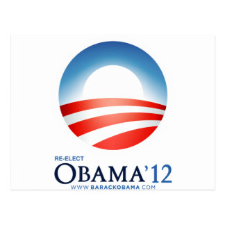Reelija a Obama 2012 Tarjetas Postales