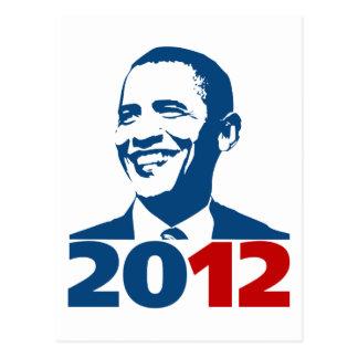 Reelija a Obama 2012 Tarjeta Postal