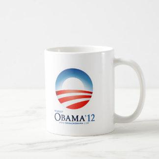 Reelija a Obama 2012 Taza Básica Blanca