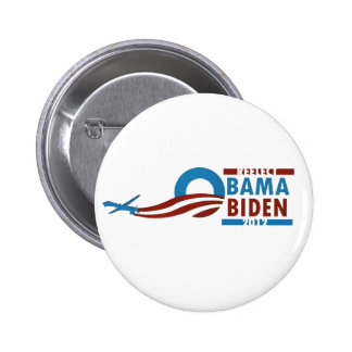 Reelija a Obama Biden 2012 Pin Redondo De 2 Pulgadas