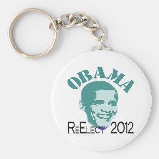 Reelija a Obama Llavero Redondo Tipo Pin