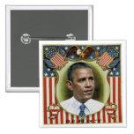 Reelija a Obama Pin Cuadrada 5 Cm