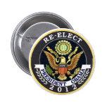 Reelija a Obama Pin Redondo 5 Cm