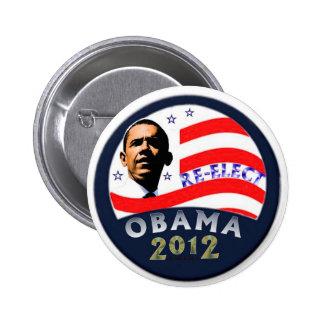 Reelija a Obama Pin Redondo De 2 Pulgadas