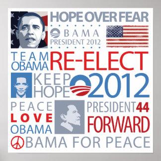 Reelija a Obama Póster