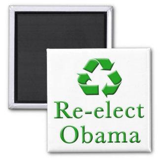 Reelija a Obama reciclan el imán