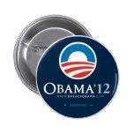 Reelija a presidente Barack Obama 2012 Pin Redondo 5 Cm