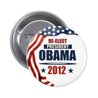 Reelija a presidente Obama 2012 Pin Redondo De 2 Pulgadas
