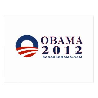 Reelija a presidente Obama 2012 Tarjetas Postales