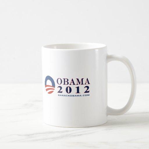 Reelija a presidente Obama 2012 Taza Básica Blanca