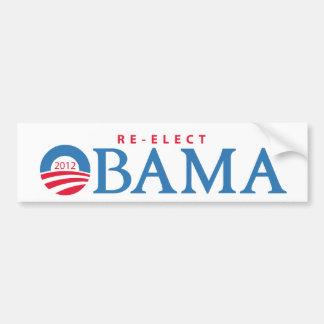 Reelija a presidente Obama Bumpersticker 2012 Pegatina Para Auto
