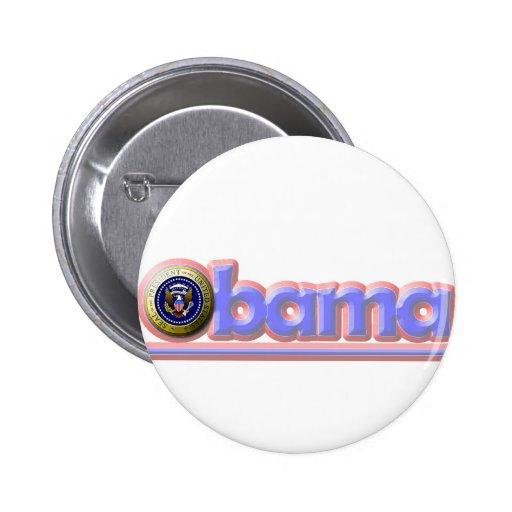 ¡Reelija a presidente Obama! Pin Redondo 5 Cm
