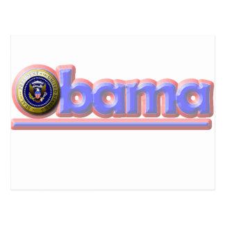 ¡Reelija a presidente Obama! Postal