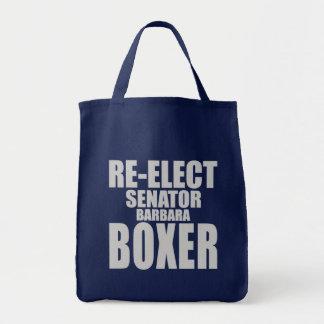 Reelija a senador Barbara Boxer Bolsas De Mano