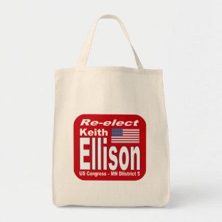 Reelija al congreso de Keith Ellison Minnesota 201 Bolsas Lienzo