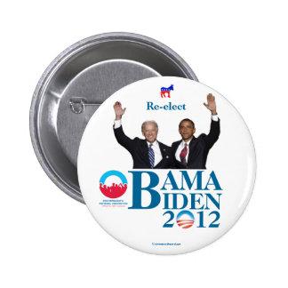 Reelija al convenio de OBAMA BIDEN en 2012 polític Pins