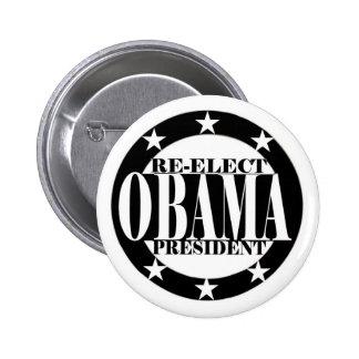Reelija al presidente de Obama Pin Redondo De 2 Pulgadas