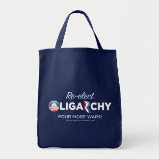 Reelija el bolso de la oligarquía 2012 bolsa lienzo