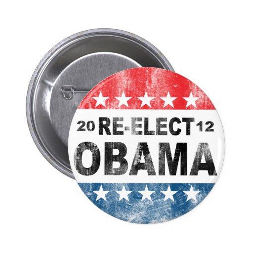 Reelija el botón de Barack Obama 2012 Pin Redondo De 2 Pulgadas