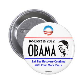 Reelija el botón político del pinback de OBAMA en  Pin Redondo De 2 Pulgadas