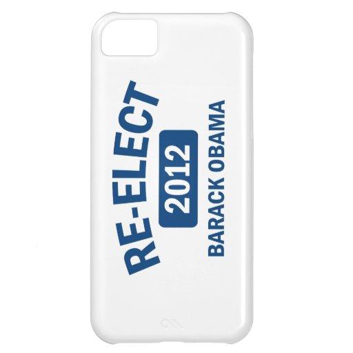 Reelija el caso 2012 del iPhone 5 de Barack Obama Funda Para iPhone 5C