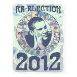 Reelija el engranaje de presidente Obama Election Postal