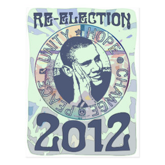 Reelija el engranaje de presidente Obama Election Postal