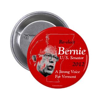 Reelija el politica 2012 de senador Vermont de Ber Pin Redondo De 2 Pulgadas
