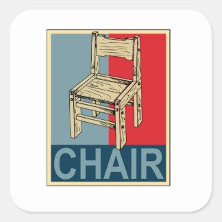 Reelija la silla 2012 calcomania cuadradas