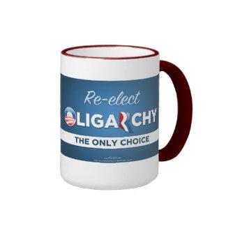 Reelija la taza anti de Obama Romney de la oligarq