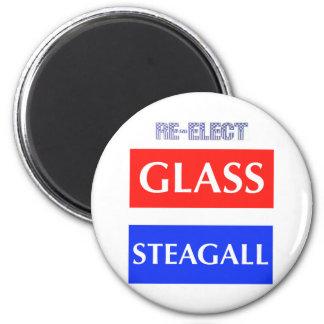 REELIJA Steagall de cristal Imán Redondo 5 Cm