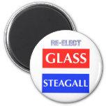 REELIJA Steagall de cristal Imán De Frigorifico