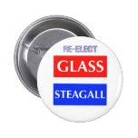REELIJA Steagall de cristal Pins