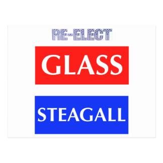 REELIJA Steagall de cristal Postales