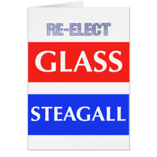 REELIJA Steagall de cristal Tarjeta De Felicitación