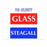 REELIJA Steagall de cristal Tarjeta Postal