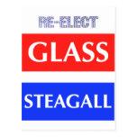 REELIJA Steagall de cristal Tarjetas Postales