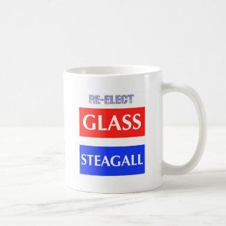 REELIJA Steagall de cristal Tazas De Café