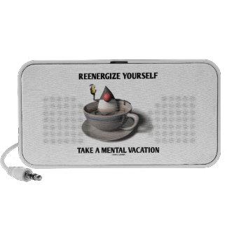 Reenergize tardan vacaciones mentales iPod altavoces