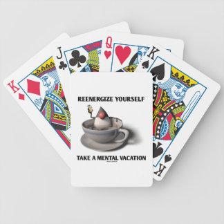 Reenergize tardan vacaciones mentales baraja de cartas