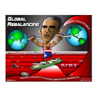 Reequilibrio global de Obama Postales
