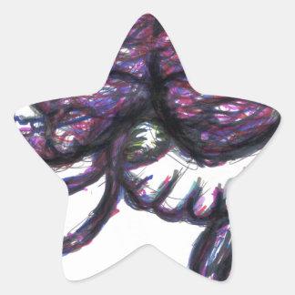 Reescritura Mindwipe de Mindweapon Pegatina En Forma De Estrella