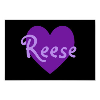 Reese in Purple Poster