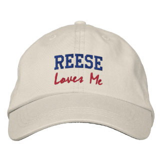 Reese Loves Me Embroidered Name Hat / Cap Embroidered Baseball Cap