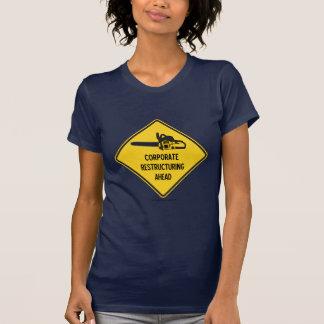 Reestructuración corporativa a continuación tshirt