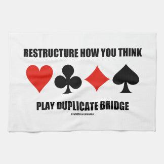 Reestructure cómo usted piensa el puente del toallas de mano