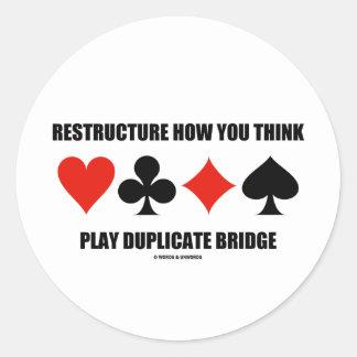 Reestructure cómo usted piensa el puente del pegatina redonda