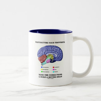 Reestructure sus pensamientos hacen las conexiones tazas de café