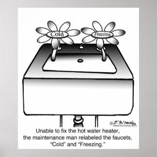 Reetiquete los grifos fríos y la congelación impresiones